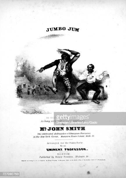 Sheet music cover image of the song 'Jumbo Jum An Original Nigger Ballad' with original authorship notes reading 'Arranged for the Piano Forte By an...