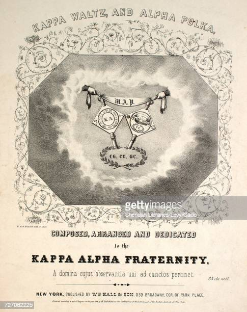 Sheet music cover image of the song 'Kappa Waltz and Alpha Polka' with original authorship notes reading 'na' United States 1848 The publisher is...