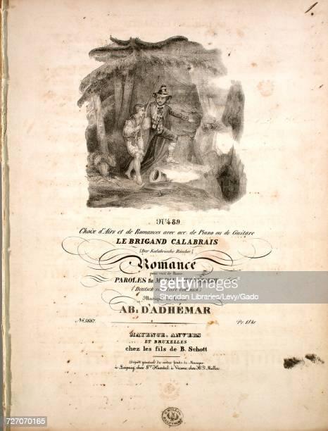 Sheet music cover image of the song 'Le Brigand Calabrais Romance No 489 Choix d'Airs et de Romances avec acc de Piano ou de Guitare Pour voix de...