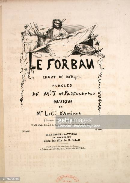 Sheet music cover image of the song 'Le Forban Chant de Mer No 490 Choix d'Airs et de Romances avec acc de Piano ou de Guitare' with original...