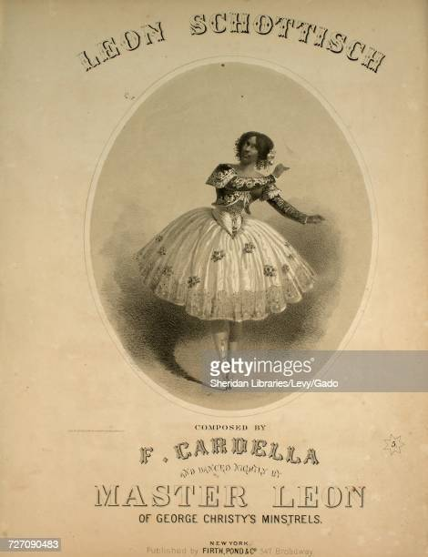 Sheet music cover image of the song 'Leon Schottisch' with original authorship notes reading 'Composed by F Cardella' United States 1861 The...