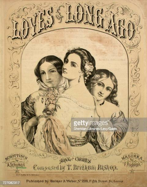 Sheet music cover image of the song 'Loves of Long Ago Schottisch' with original authorship notes reading 'By A Schuman' 1866 The publisher is listed...