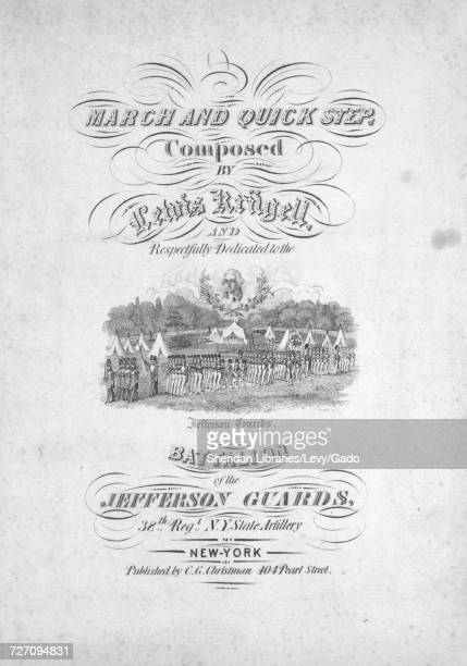 Sheet music cover image of the song 'march and Quick Step' with original authorship notes reading 'Composed by Lewis Krugell' United States 1900 The...