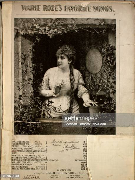 Sheet music cover image of the song 'marie Roze's Favorite Songs Alpine Flowers ' with original authorship notes reading 'English version by Louis C...