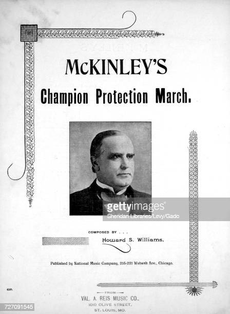 Sheet music cover image of the song 'mcKinley's Champion Protection March' with original authorship notes reading 'composed by Howard S Williams'...