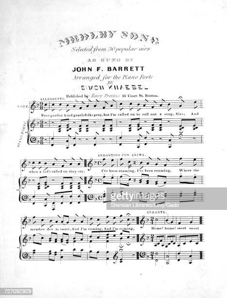 Sheet music cover image of the song 'medley Song Selected from 30 popular airs ' with original authorship notes reading 'Arranged for the Piano Forte...