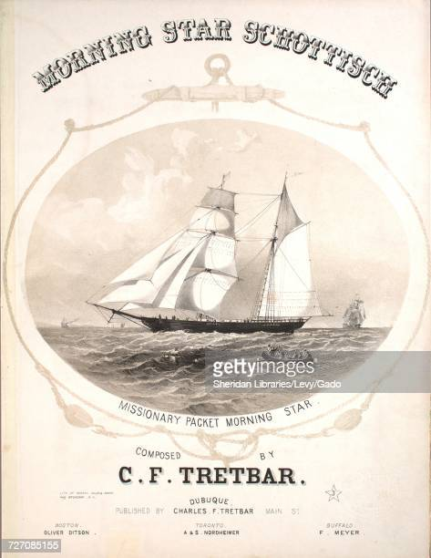 Sheet music cover image of the song 'morning Star Schottisch' with original authorship notes reading 'Composed by CF Tretbar' 1857 The publisher is...