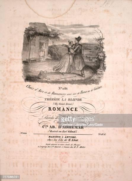 Sheet music cover image of the song 'No 486 Choix d'Airs et de Romances avec acc de Piano ou de Guitare Therese La Blonde Die Blonde Braut Romance '...