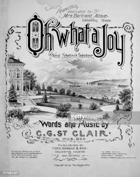 Sheet music cover image of the song 'Oh What a Joy Vocal Schottisch Fantastique' with original authorship notes reading 'Words and Music by CG St...