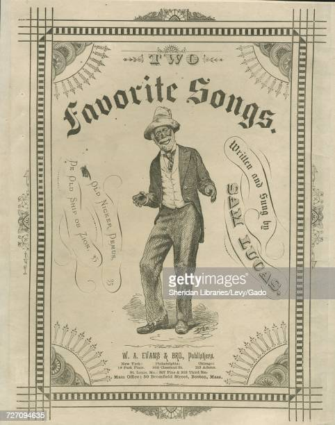 Sheet music cover image of the song 'Old Nicker Demus 'De Ruler Ob De Jews'' with original authorship notes reading 'Written by Sam Lucas' United...