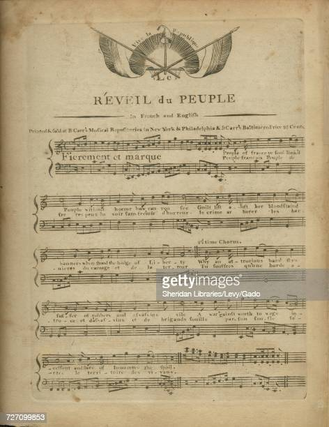 Sheet music cover image of the song 'Reveil du Peuple In French and English' with original authorship notes reading 'na' 1900 The publisher is listed...