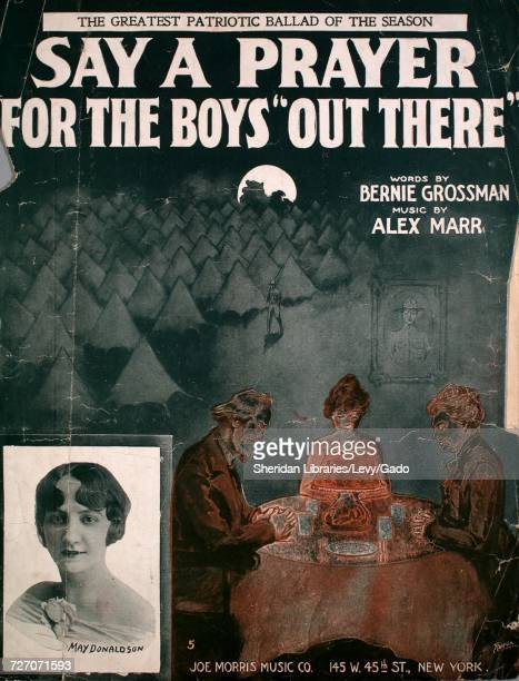 Sheet music cover image of the song 'say a Prayer for the Boys 'Out There' The Greatest Patriotic Ballad of the Season' with original authorship...