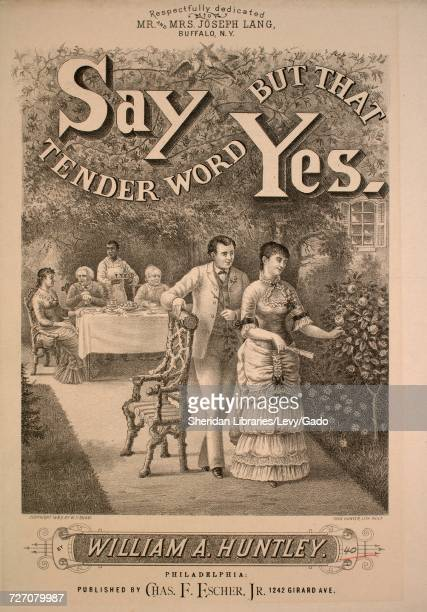 Sheet music cover image of the song 'say But That Tender Word Yes' with original authorship notes reading 'Words by Ernest Hardenstein Music by...