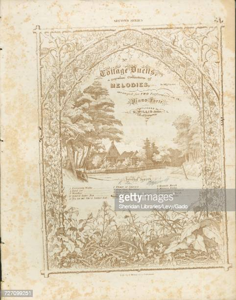 Sheet music cover image of the song 'second Series Cottage Duetts a popular Collection of Melodies arranged for TWO Performers on the Piano Forte...