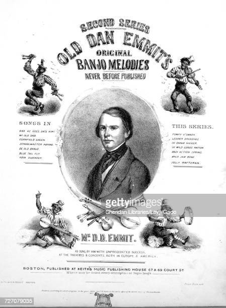 Sheet music cover image of the song 'second Series Old Dan Emmit's Original Banjo Melodies Never Before Published Pompy O'smash' with original...