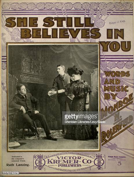 Sheet music cover image of the song 'she Still Believes in You' with original authorship notes reading 'Words and Music by Monroe H Rosenfeld' United...