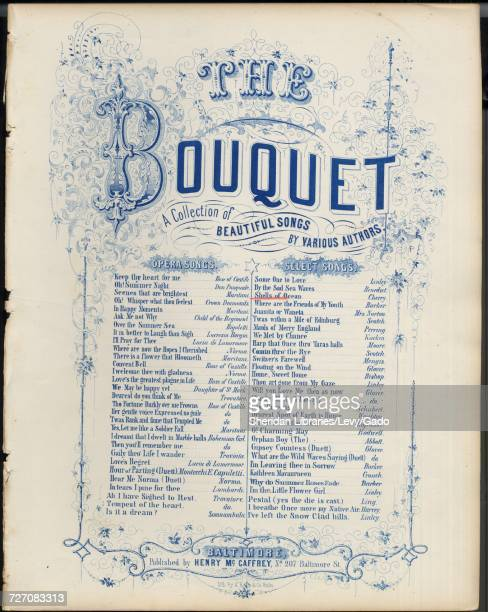 Sheet music cover image of the song 'shells of Ocean Series title The Bouquet A Collection of Beautiful Songs' with original authorship notes reading...