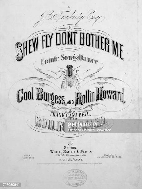 Sheet music cover image of the song 'shew Fly Comic Song and Dance or Walk Round' with original authorship notes reading 'Words by Billy Reeves Music...