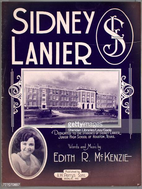 Sheet music cover image of the song 'sidney Lanier' with original authorship notes reading 'Words and Music by Edith R McKenzie' 1927 The publisher...