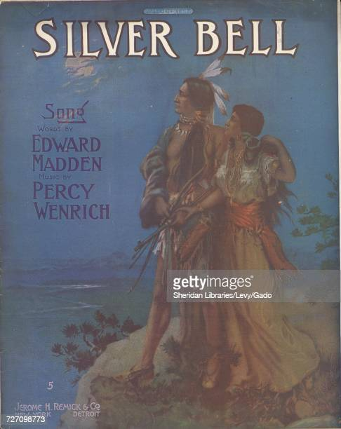 Sheet music cover image of the song 'silver Bell Song' with original authorship notes reading 'Words by Edward Madden Music by Percy Wenrich' United...