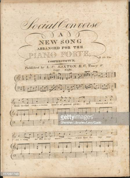 Sheet music cover image of the song 'social Converse A New Song' with original authorship notes reading 'na' 1900 The publisher is listed as 'LC...