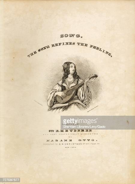 Sheet music cover image of the song 'song The Song Refines the Feeling' with original authorship notes reading 'Composed by Ces F Heuberer' United...