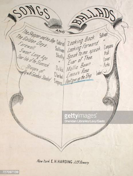 Sheet music cover image of the song 'songs and Ballads Don't Give Up the Ship' with original authorship notes reading 'Words by Geo Cooper Music by...