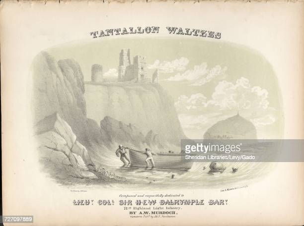 Sheet music cover image of the song 'tantallon Waltzes' with original authorship notes reading 'Composed by AW Murdoch' 1851 The publisher is listed...