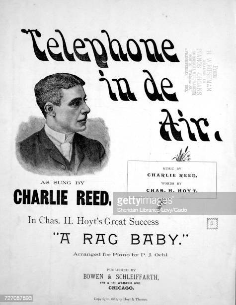 Sheet music cover image of the song 'telephone in de Air' with original authorship notes reading 'music by Charlie Reed Words by Chas H Hoyt Arranged...