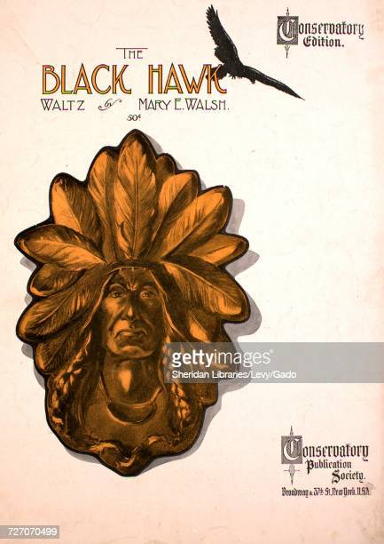 Sheet music cover image of the song 'the Black Hawk Waltz Conservatory Edition' with original authorship notes reading 'by Mary E Walsh' United...