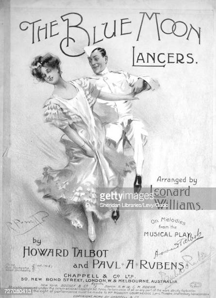 Sheet music cover image of the song 'the Blue Moon Lancers' with original authorship notes reading 'Arranged by Leonard Williams on Melodies from the...