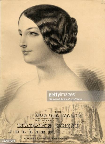 Sheet music cover image of the song 'the Borgia valse' with original authorship notes reading 'By Jullien' United States 1854 The publisher is listed...