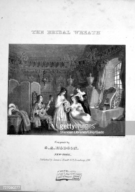 Sheet music cover image of the song 'the Bridal Wreath' with original authorship notes reading 'Composed by GA Hodson Words by C Jefferys' United...