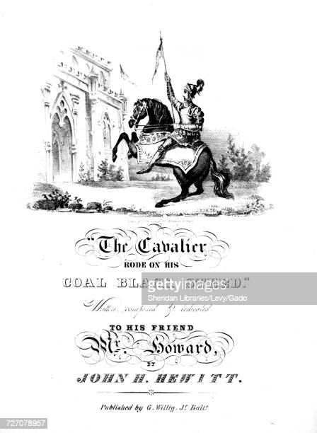 Sheet music cover image of the song 'the Cavalier Rode on his Coal Black Steed' with original authorship notes reading 'Written composed By John H...