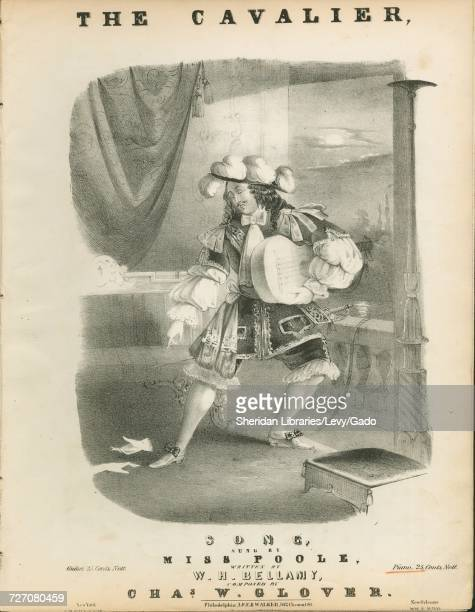 Sheet music cover image of the song 'the Cavalier Song' with original authorship notes reading 'Written By WH Bellamy Composed By Chas W Glover'...