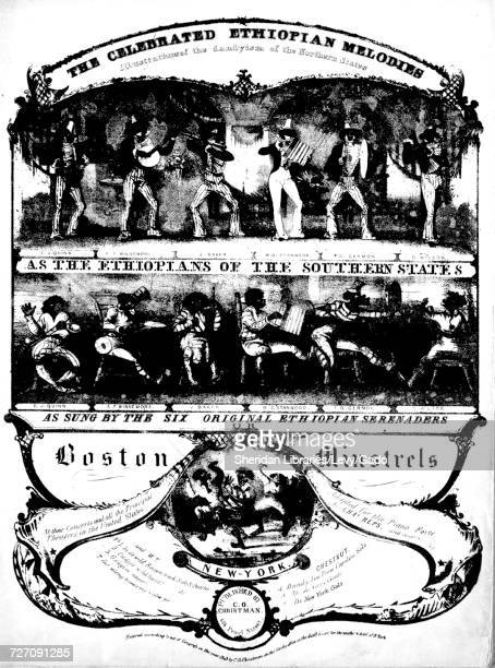 Sheet music cover image of the song 'the Celebrated Ethiopian Melodies Illustrations of the Dandyism of the Northern States As the Ethiopians of the...