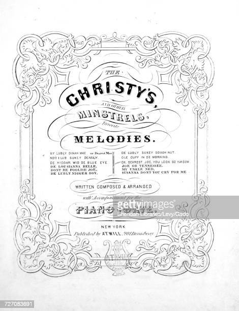 Sheet music cover image of the song 'the Christy's and Other Minstrels Favorite Melodies Oh Dearest Joe You Look so Hansum Duet' with original...