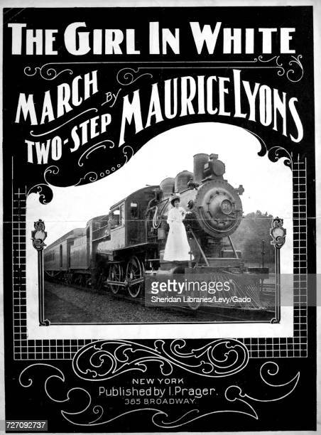 Sheet music cover image of the song 'the Girl and the Game Suggested by the Great Railroad Serial Photo Play' with original authorship notes reading...