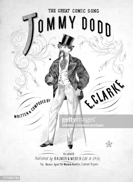 Sheet music cover image of the song 'the Great Comic Song Tommy Dodd' with original authorship notes reading 'Written and Composed By Ernee Clarke'...