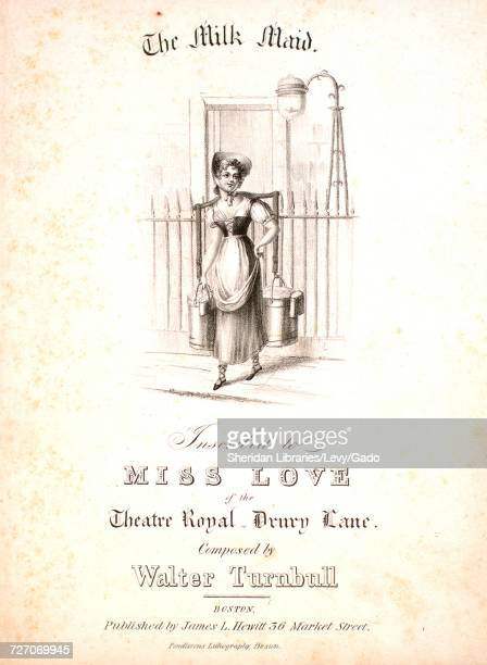 Sheet music cover image of the song 'the Milk Maid' with original authorship notes reading 'Composed by Walter Turnbull' United States 1900 The...