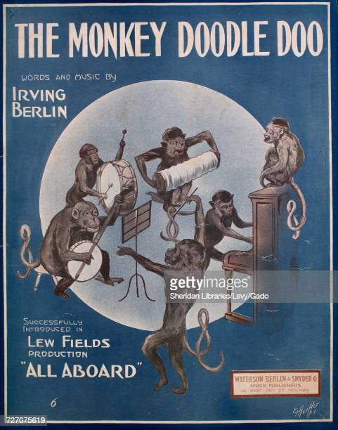 Sheet music cover image of the song 'the Monkey Doodle Doo' with original authorship notes reading 'Words and Music By Irving Berlin' United States...