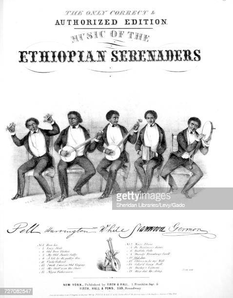Sheet music cover image of the song 'the Only Correct and Authorized Edition Music of the Ethiopian Singers Old Joe' with original authorship notes...