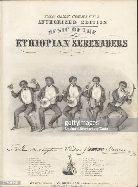 Sheet music cover image of the song 'the Only Correct and Authorized Edition Music of the Ethiopian Singers Uncle Gabriel' with original authorship...