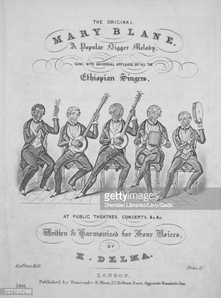 Sheet music cover image of the song 'the Original Mary Blane A Popular Nigger Melody' with original authorship notes reading 'Written and harmonized...