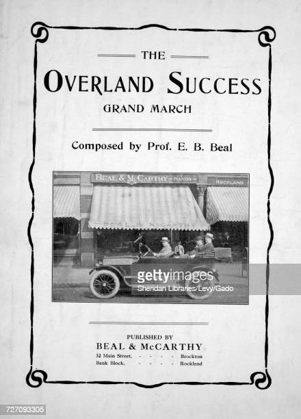 Sheet music cover image of the song 'the Overland Success Grand March' with original authorship notes reading 'Composed by Prof EB Beal' 1900 The...