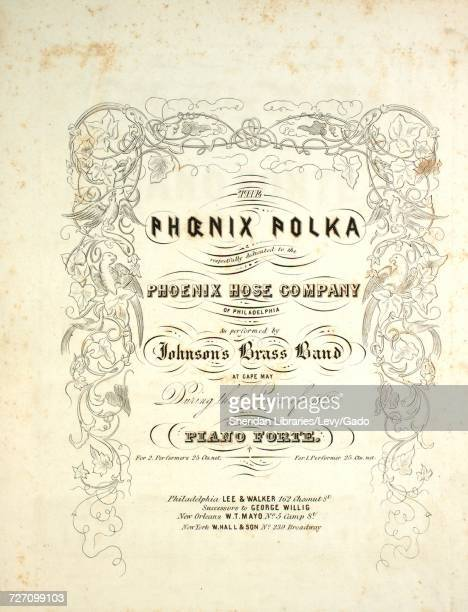 Sheet music cover image of the song 'the Phoenix Polka' with original authorship notes reading 'na' United States 1849 The publisher is listed as...