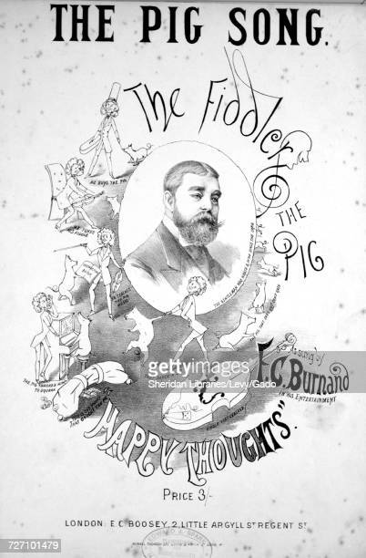 Sheet music cover image of the song 'the Pig Song' with original authorship notes reading '' United Kingdom 1900 The publisher is listed as 'EC...