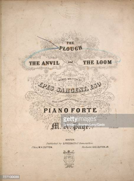 Sheet music cover image of the song 'the Plough' with original authorship notes reading 'Words Written by Epes Sargent Esq Music Composed and...