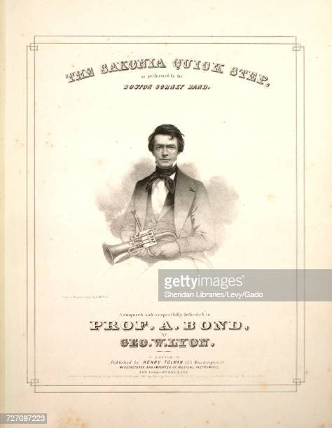 Sheet music cover image of the song 'the Saxonia Quick Step' with original authorship notes reading 'Composed by Geo W Lyon' United States 1849 The...
