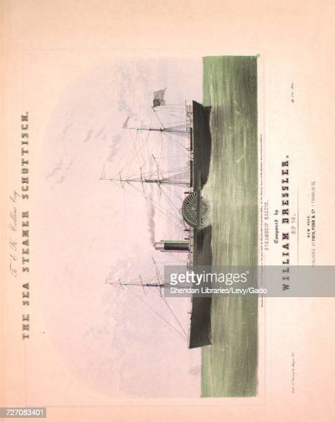 Sheet music cover image of the song 'the Sea Steamer Schottisch' with original authorship notes reading 'Composed by William Dressler Op 16' United...
